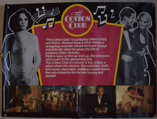 Cotton Club, Original UK Quad Poster, Richard Gere, Bob Hoskins, '84 RARE style!